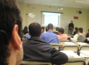 Eu na sala de aula... No Brasil mesmo, fazer o que! hehe