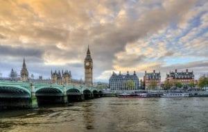 Big Ben e Tamisa em Londres, Inglaterra - Fonte Pexels