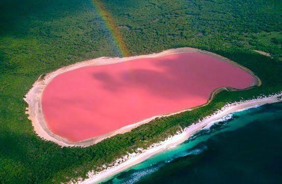 Lago Hillier, Austrália - Fonte Atrasobscura.com