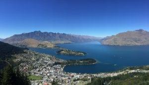 Foto Panoramica de Queenstown, Nova Zelândia - Arq Pessoal Val Akemi