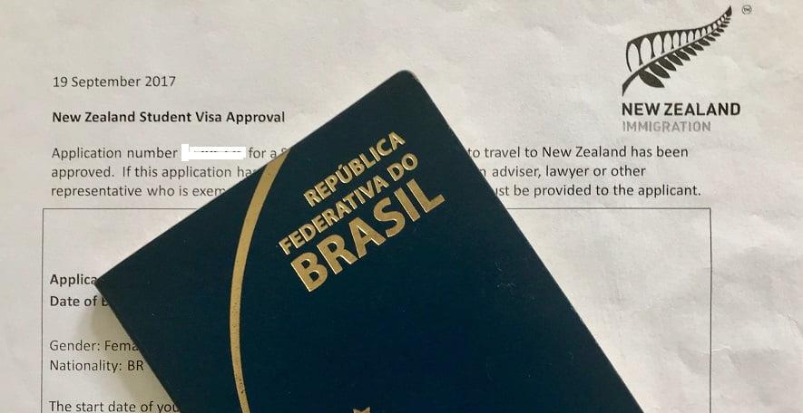 Visto de estudante para Nova Zelândia - Arq Pessoal Val Kawaguchi