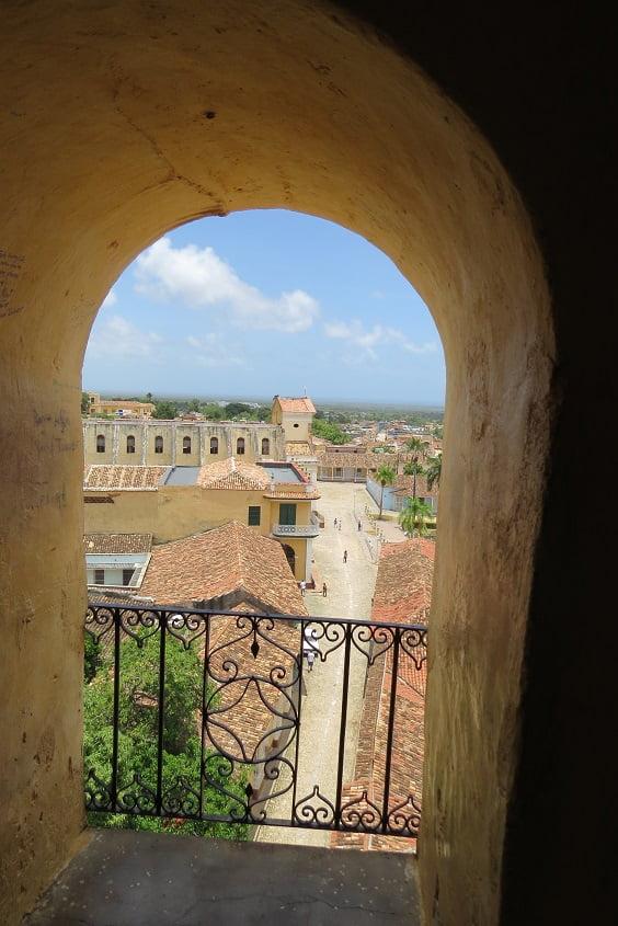 Vista panoramica do centro histórico de Trinidad, Cuba