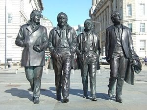 Estátua dos Beatles, banda de Liverpool, Inglaterra - Foto Pixabay