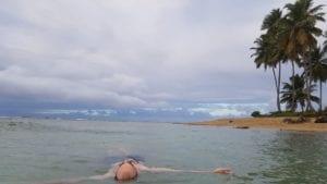 Relaxando na Punta de Playa Bonita, Samana - República Dominicana