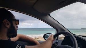 Chegando na praia de El Rincon, República Dominicana