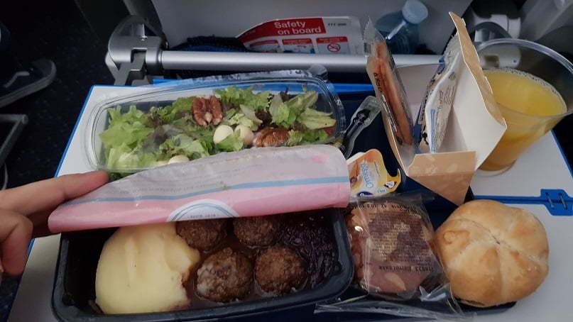 Comida de avião abordo da KLM - trecho Amsterdam - Guarulhos_3