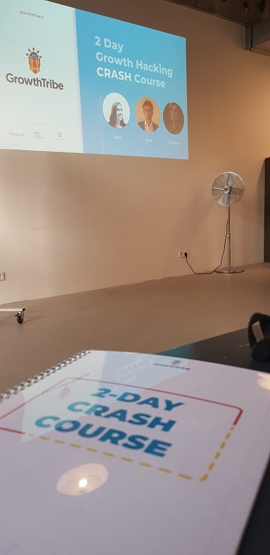 Curso de Growth Hacking na Growth Tribe no meu intercâmbio de negócios em Amsterdam