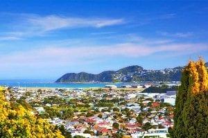 Vista da cidade de Wellington