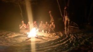 Apresentaçao de música e dança da tribo Bushman, Botswana