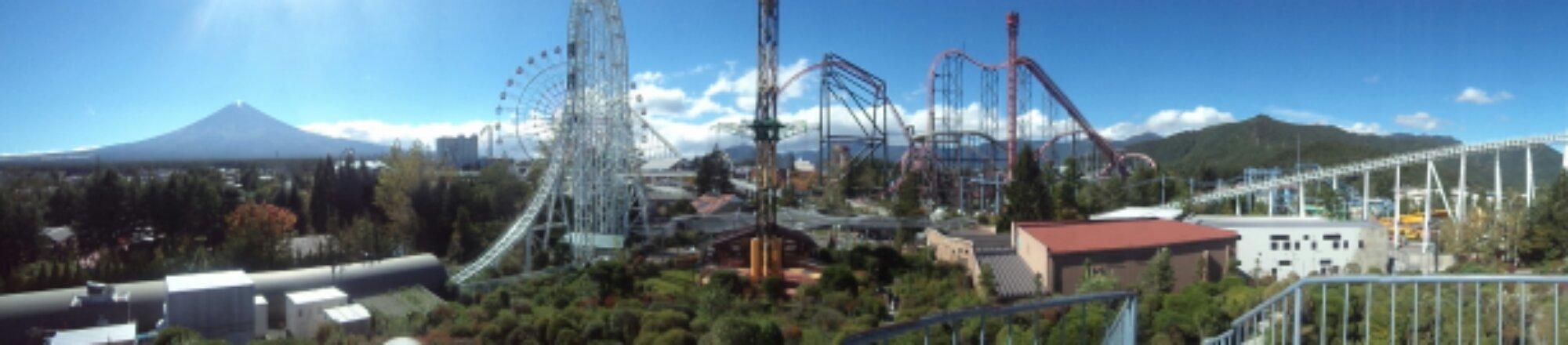Fuji-Q - Vista panorâmica de cima do mirante do parque