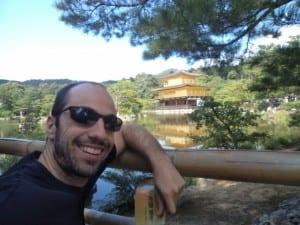 Eu e o Pavilão de Ouro, Kinkakuji em Kyoto, Japão