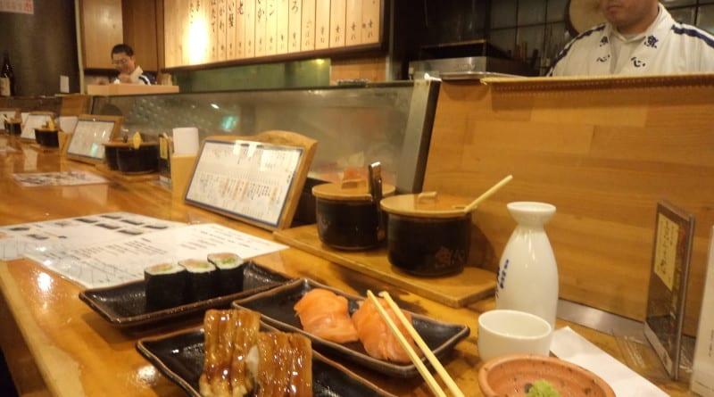 Sushi Restraurant, em Kyoto, Japão