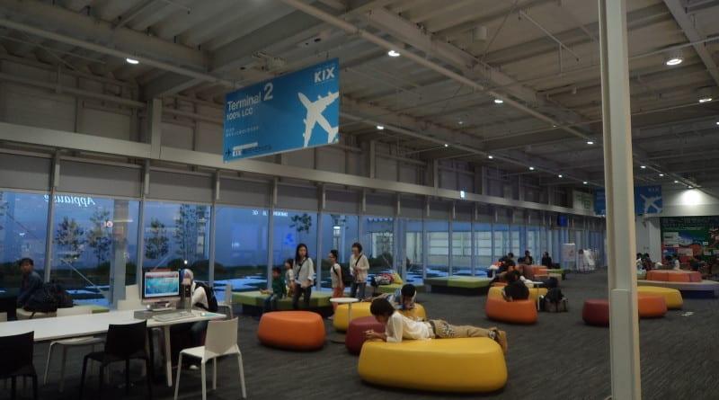 Lounge de espera em Kansai Airport - Osaka, Japão