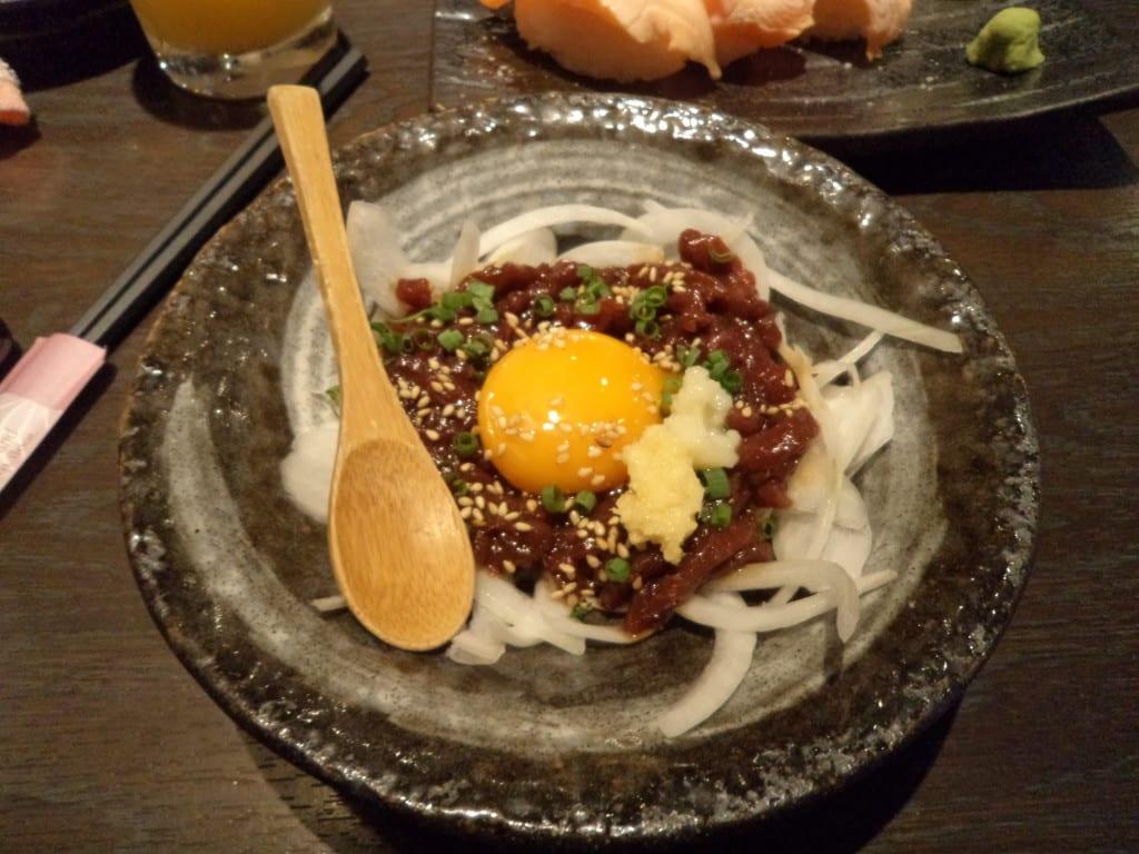Sashimi de Cavalo. Prato típico no Japão.