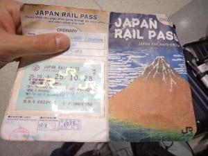 JR Pass surrado no final da Viagem no Japão