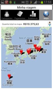 App Travel Money - Relatório de Mapa