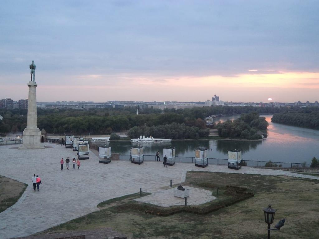 Por do sol no Forte Kalamegdan, em Belgrado, Sérvia
