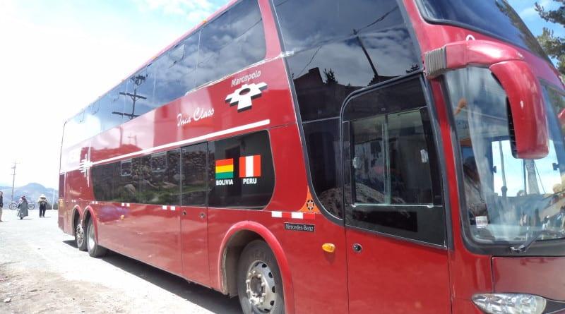 Ônibus de Puno(Peru) a Copacana(Bolívia)