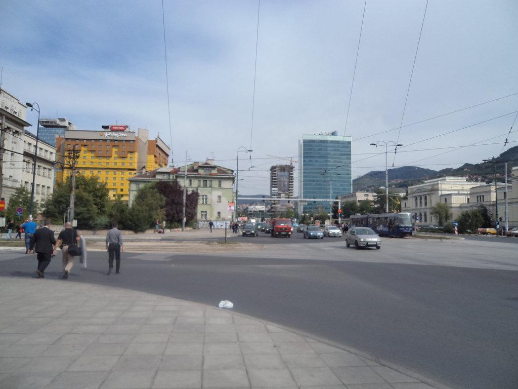 O Parlamento da Bósnia, reconstruído