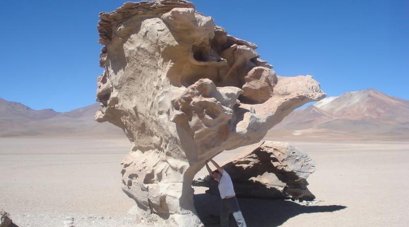 Arbol de Piedra na Reserva Nacional de Fauna Andina Eduardo Avaroa, Bolívia