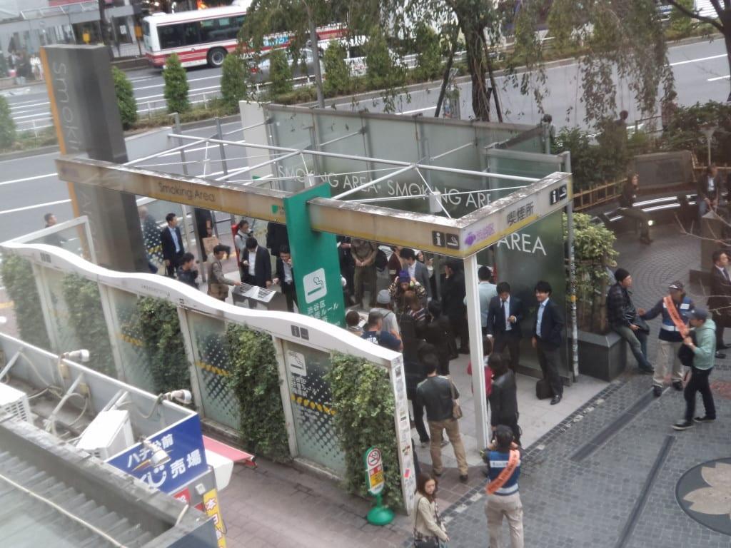Área de fumantes em Shibuya, Tokyo 1