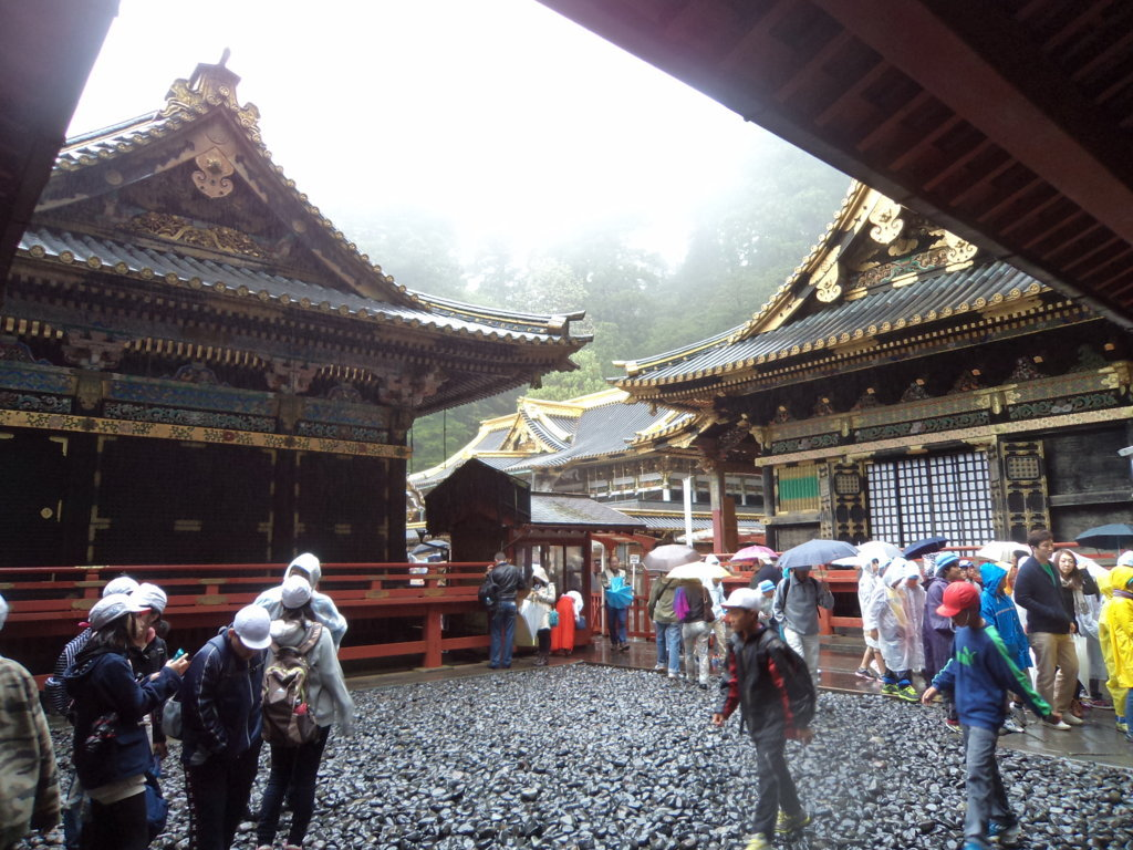 Templo Toshugo em Nikko, famoso pelos 3 macaquinhos que não veem, ouvem ou falam - Japão