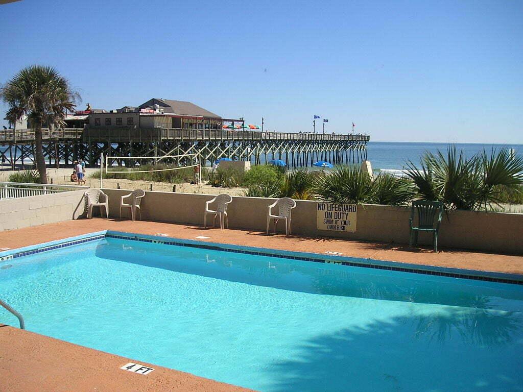 Vista do Motel em North Myrtle Beach
