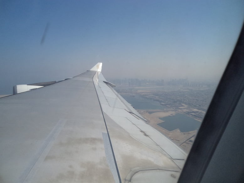 Decolando do aeroporto de Dubai com a Emirates