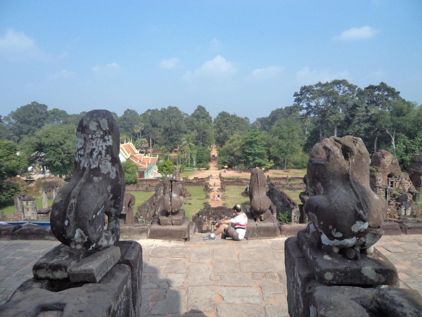 Prasat Bakong temple em Siem Reap, Camboja