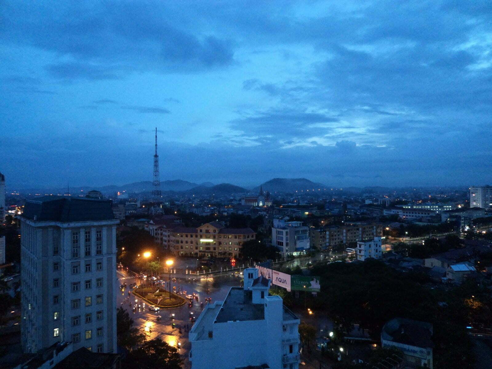 Vista de Hue do hotel Eldora - Hue, Vietnã