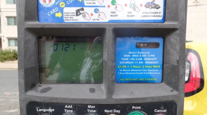 Maquina de Estacionando de Carro em Austin, Texas