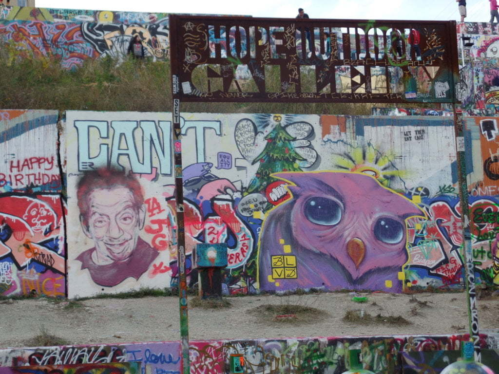 05 - Hope Outdoor Galley, uma ocupação do grafitti ao ar livre - Austin, Texas