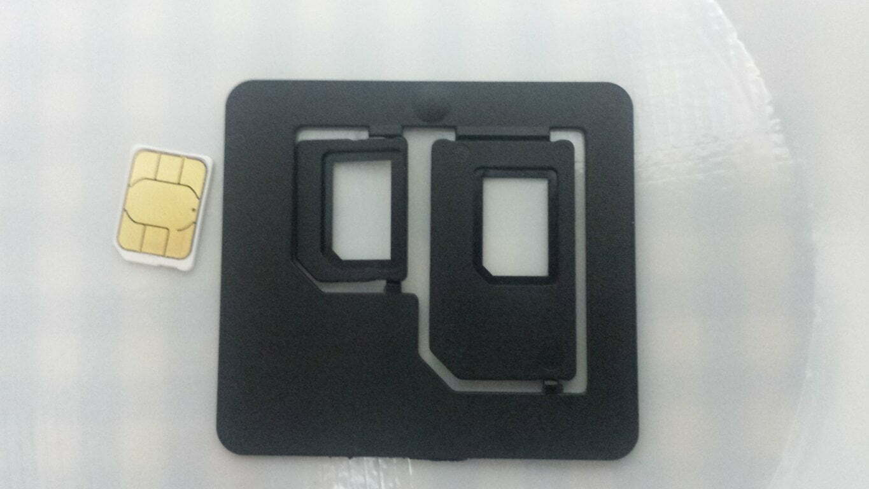 Adaptador para SIM que vem no SIM Starter Kit - EUA