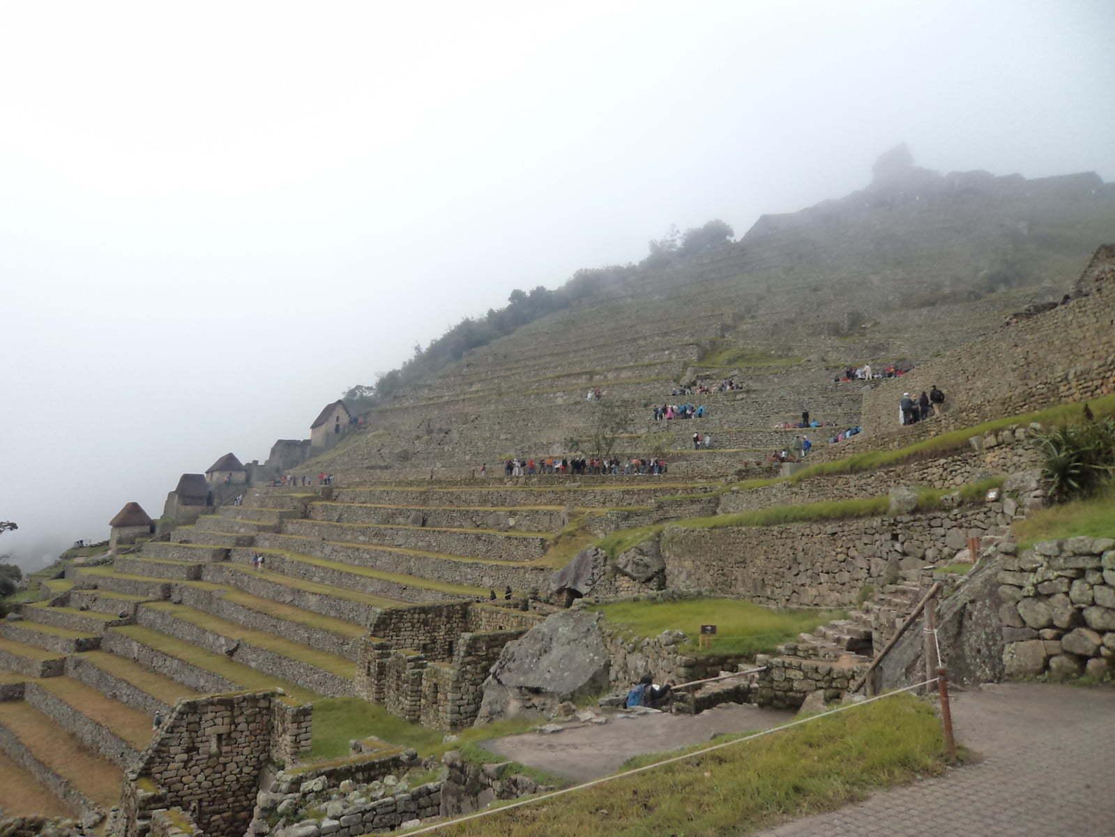 Tecnologia na agricultura fazia os degraus para criar microcliemas para cultivo - Machu Picchu, Peru