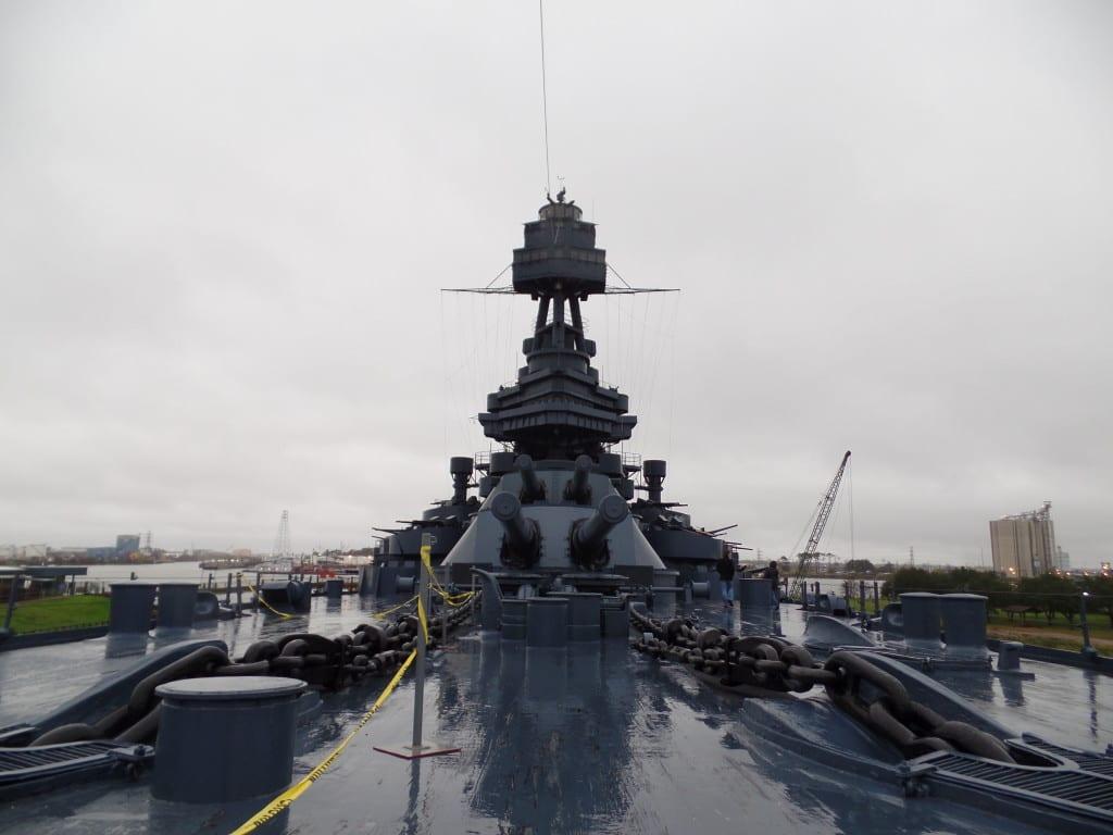O velho barco em San Jacinto é um museu das grandes guerras - Houston, EUA