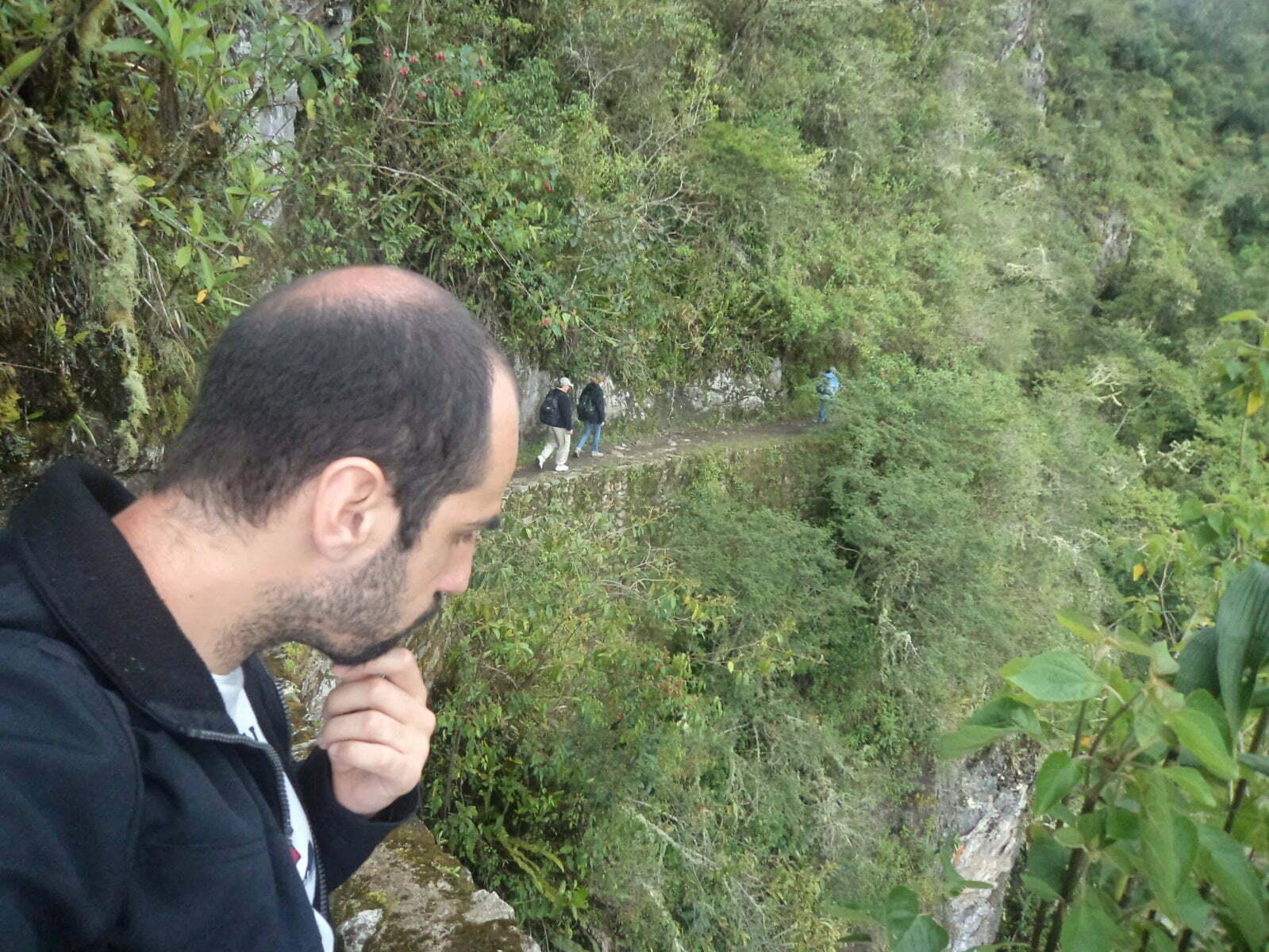 E é assim que a Trilha Inca vai - Machu Picchu, Peru