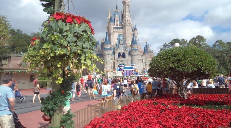 O famoso castelo da Princesa no Magic Kingdom da Disney - Orlando, EUA
