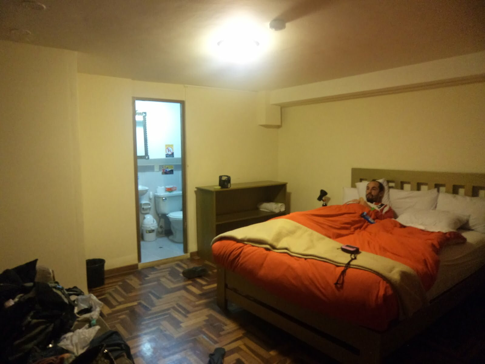 As àguas do Peru, me deixaram assim, de cama  - Cuzco, um dia após Machu Picchu