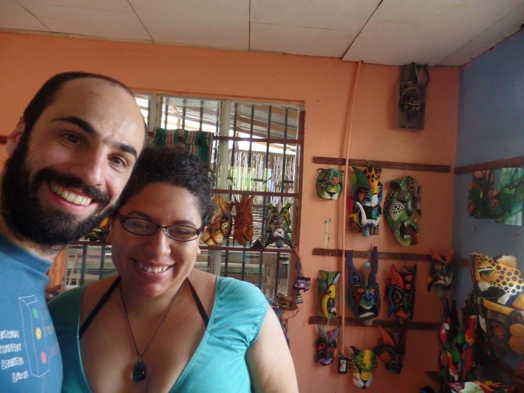 Andrea foi vendedora e guia em Boruca, Costa Rica