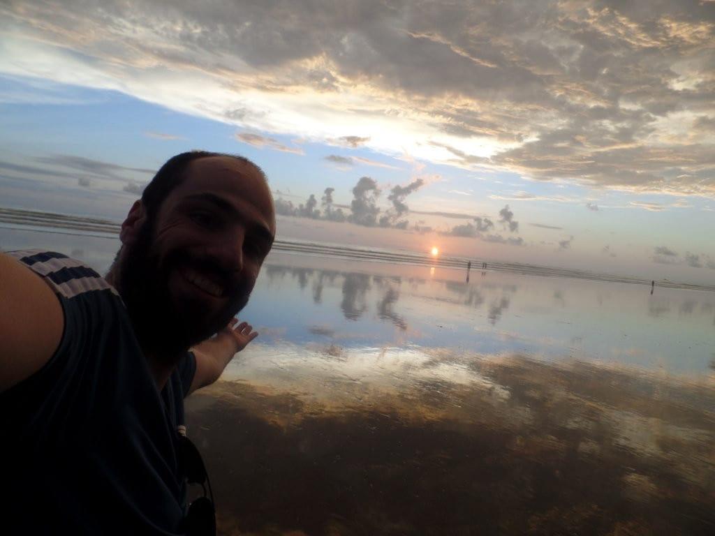 Eu no Por do Sol em Uvita, Costa Rica