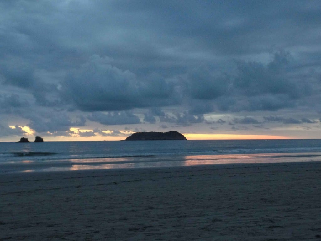 Por do sol praia Manuel Antônio, Costa Rica