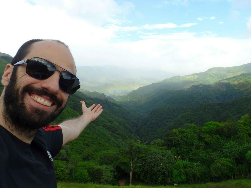 Arco-iris na estrada de Monteverde-Quepos, Costa Rica