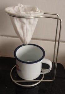 Coador de café em Carrancas, MG