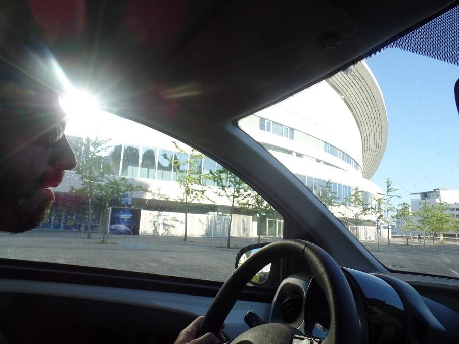 Finalmente chegando no estádio do Porto FC, Portugal