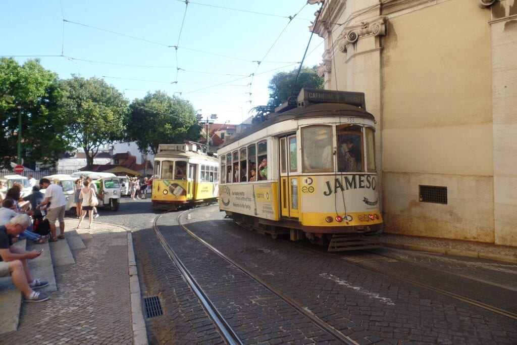 Ruas de Lisboa em Portugal