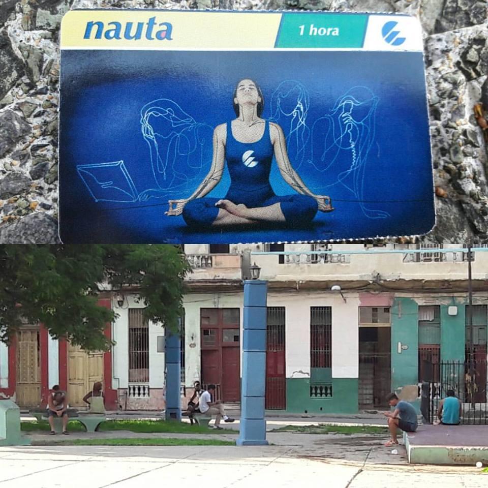 Cartão de Internet em Cuba e cubanos navegando