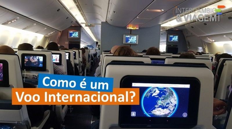 Como é um voo internacional