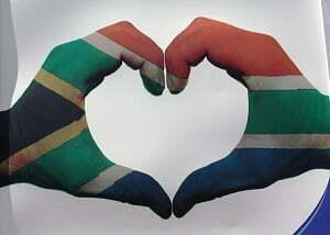 Coração com as cores da bandeira África do sul - Pixabay