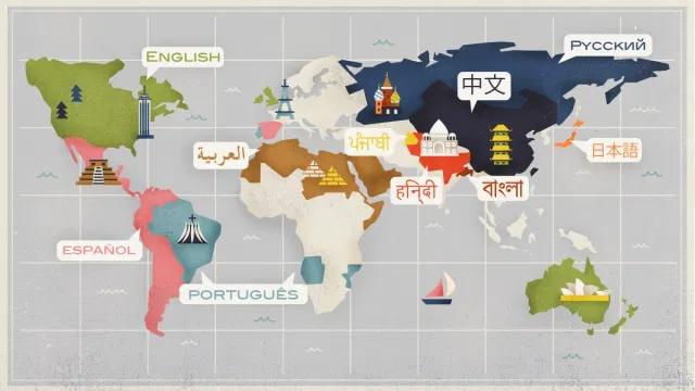 As línguas mais importantes e mais faladas do mundo