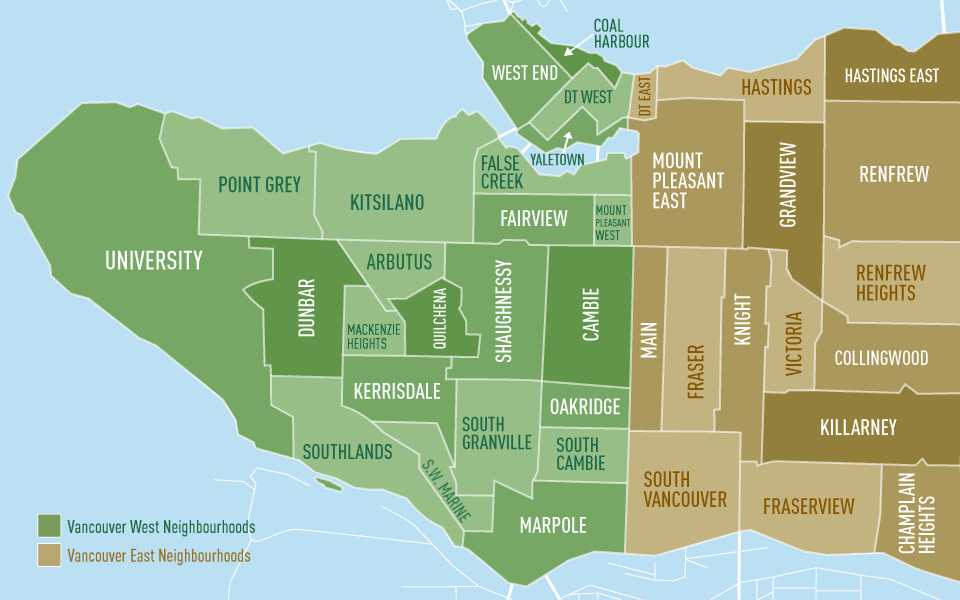 Mapa de Vancouver